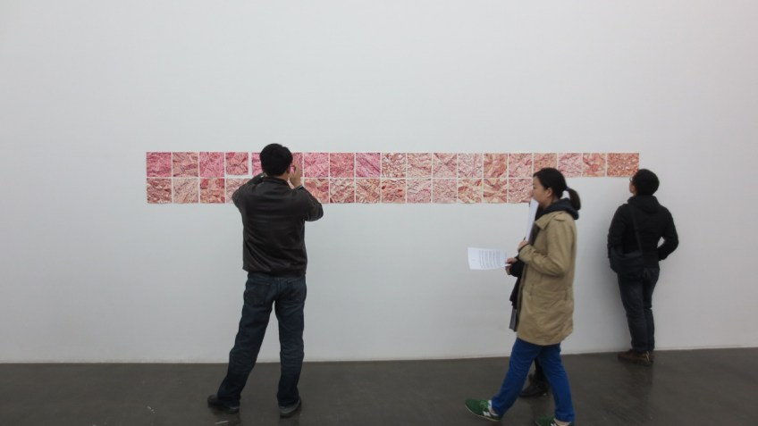 Liang Yuanwei, Pomegranate installation view at Beijing Commune