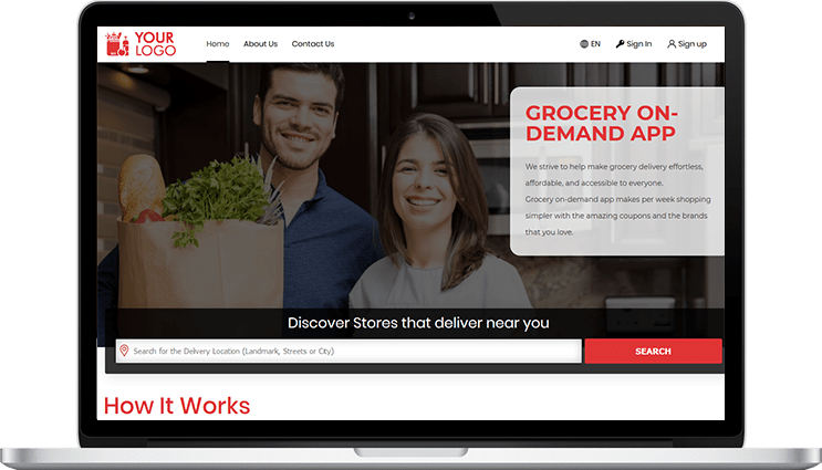 grocery delivery app clone