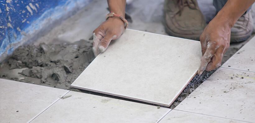 how do i fix loose floor tiles espares