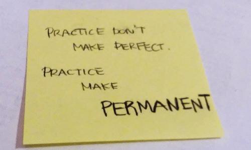 practice make permanent