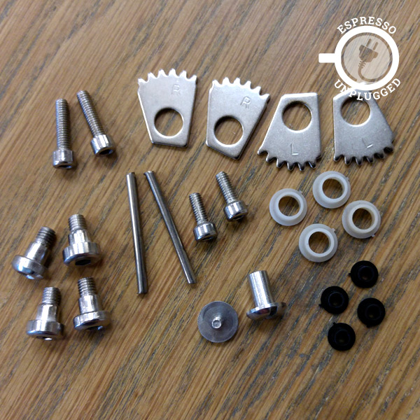 ROK and Presso spare parts screws gears pins
