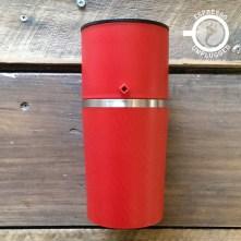 cafflano klassic coffee maker grinder red
