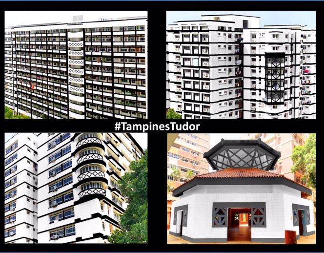 Tudor-style HDB blocks Tampines North Singapore sg