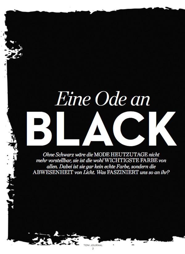 Eine Ode an Black, Trendfarbe Schwarz