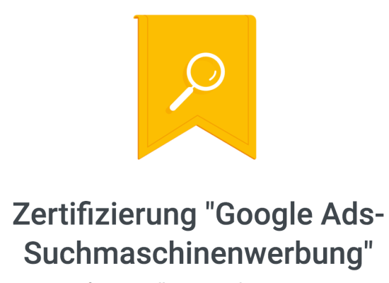 Zertifikat Google Ads Suchmaschinenwerbung