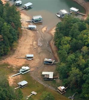 Low Water Level in Georgia Lake