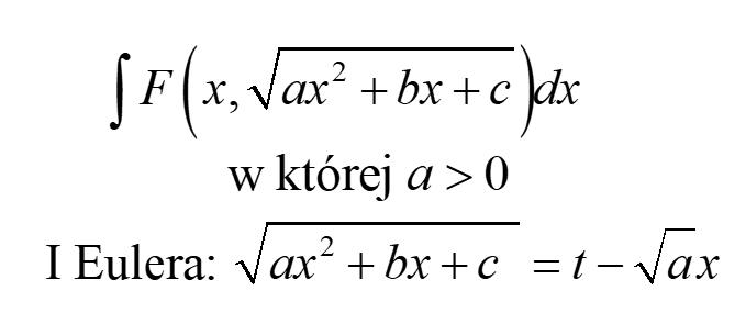Podstawienia Eulera I rodzaju