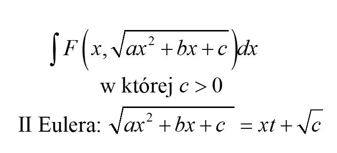 Podstawienia Eulera II rodzaju