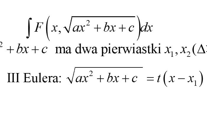 Podstawienia Eulera III rodzaju – Podsumowanie