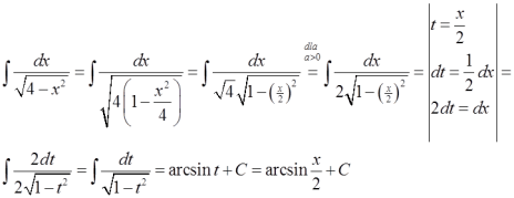 Zastosowanie szczególnej postaci wzoru z arcsin