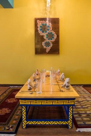 The custom-made Sangha tables. // Photo Credit Ruben Karel
