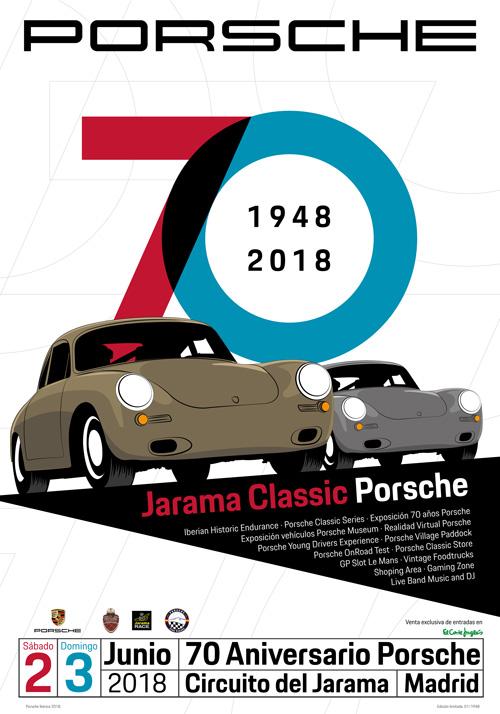 Poster oficial Jarama Classic Porsche 2018