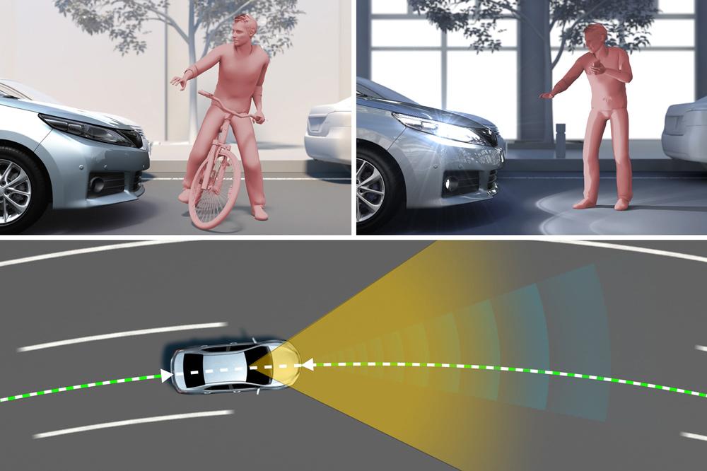 Sistema anti colisión para peatones y ciclistas de Lexus