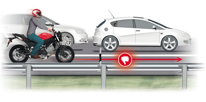 Circular por el arcen es una de las 10 infracciones más peligrosas que cometemos los motoristas, según la DGT