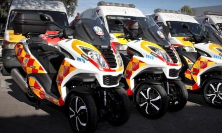 Peugeot Motocycles equipa a Samur – Protección Civil de Madrid  con siete Peugeot Metropolis