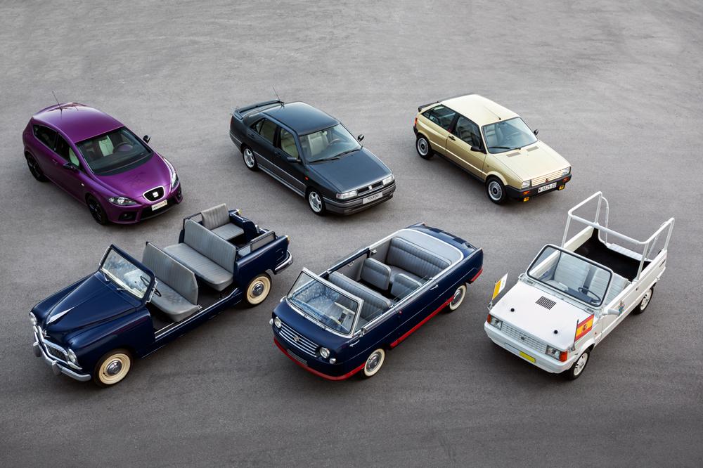 SEAT 70 años y 16 coches especiales