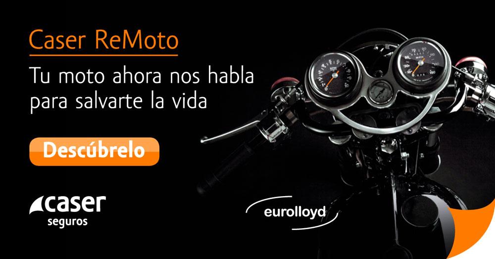 Primer seguro de moto con e-call incluído: Así es Caser ReMoto