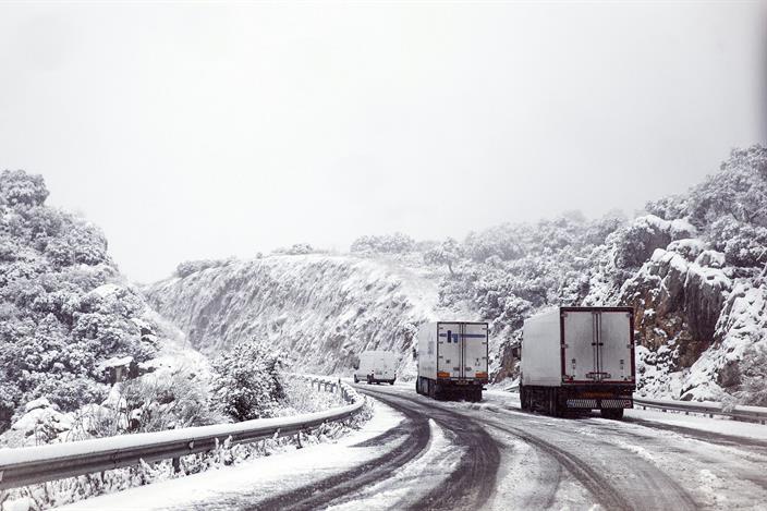 Nieve en carreteras enero 2021