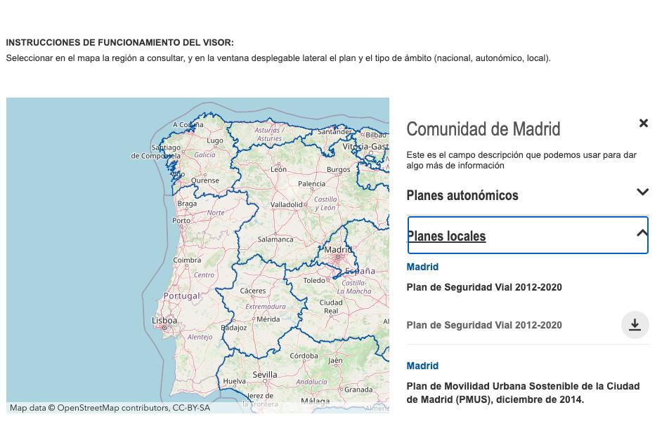 Planes territoriales movilidad DGT