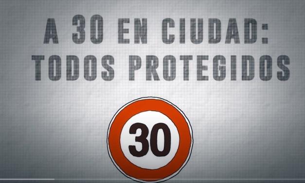 A 30, en ciudad, todos protegidos