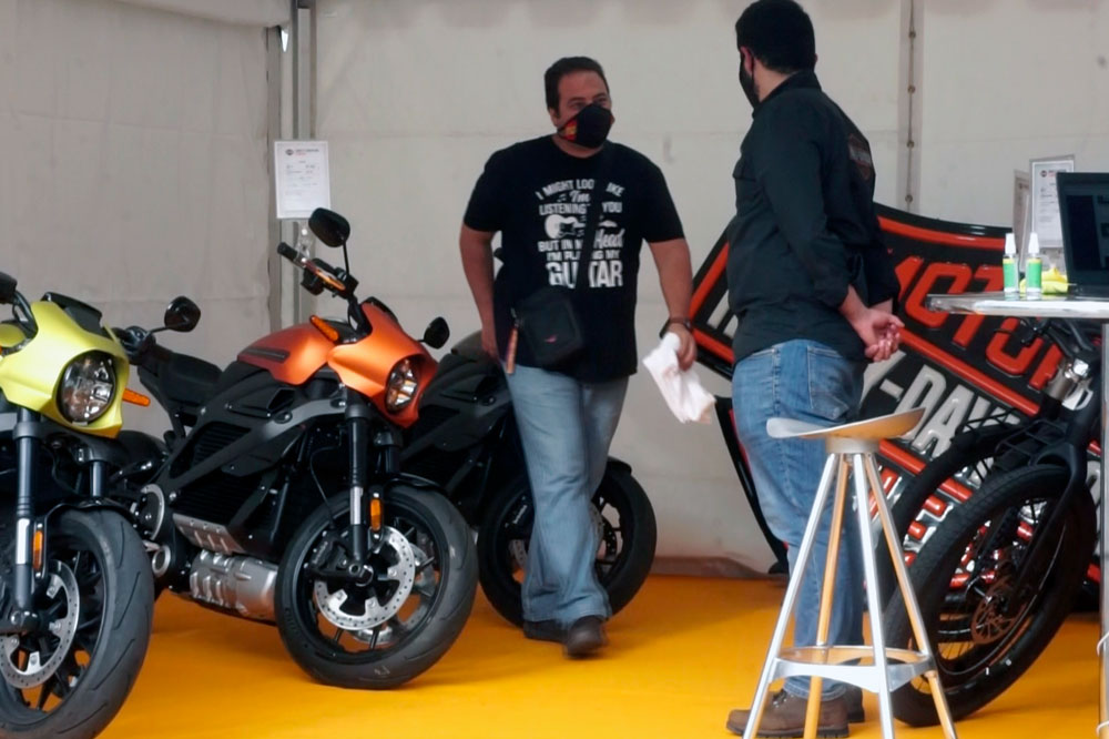 Stand de Harley-Davidson en la Feria Mogy 2021