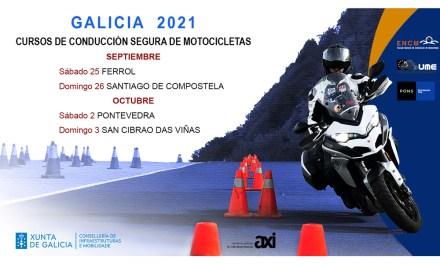 La Xunta ofrece cursos gratuitos de conducción segura en moto para frenar la alta siniestralidad