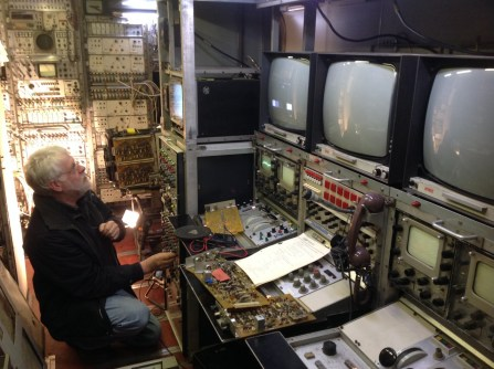 Steve Harris repairing his BBC North 3 outside broadcast truck.
