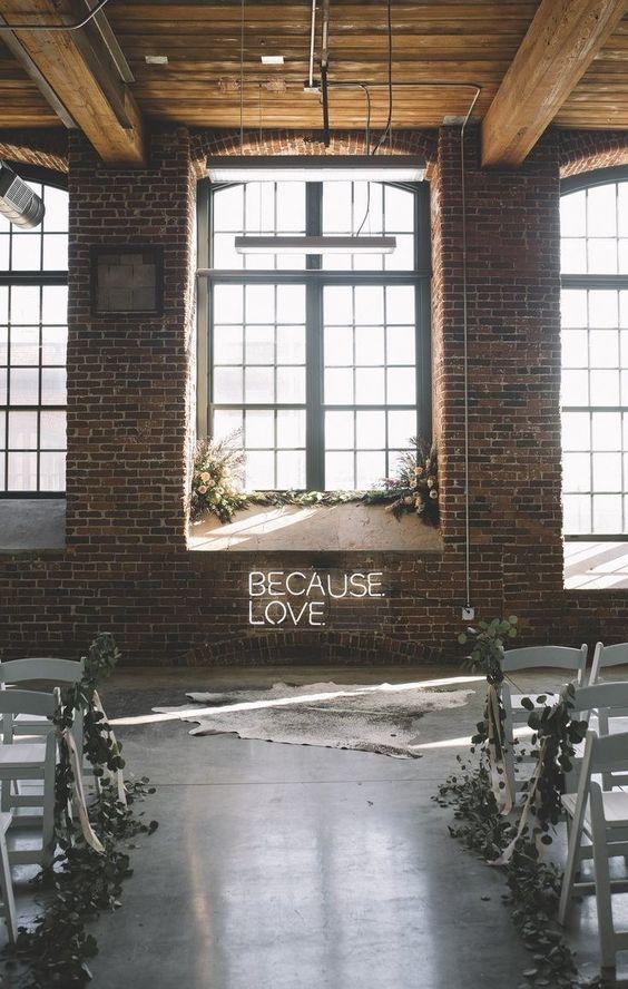 Minimalist Wedding Space