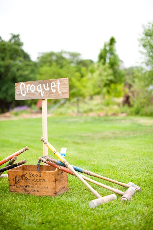 Party games: Croquet is a great outdoor game for large yards for family reunions, the 4th of July, or any outdoor celebration.
