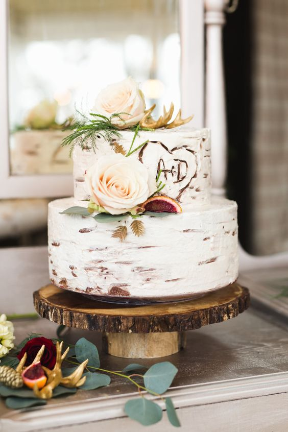 Fall Rustic Wedding Cakes