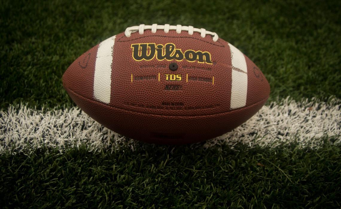 Superbowl Football on Field
