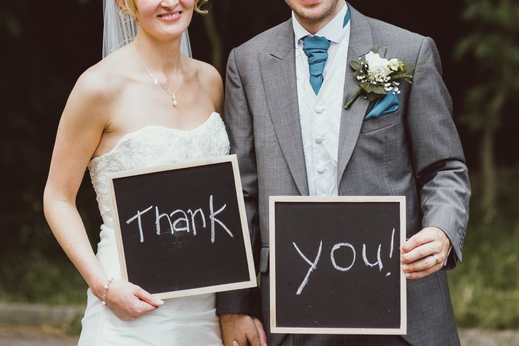 Bride and Groom Thank You