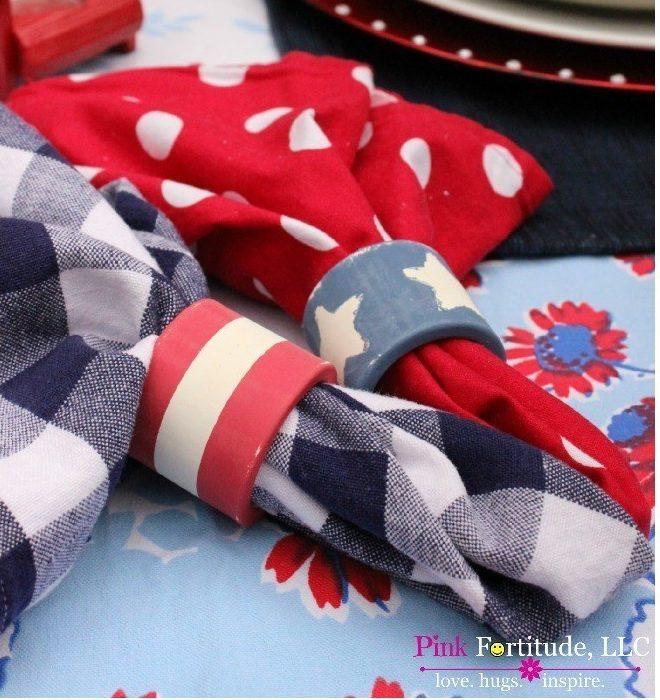 4th of July Decorations Napkin Rings