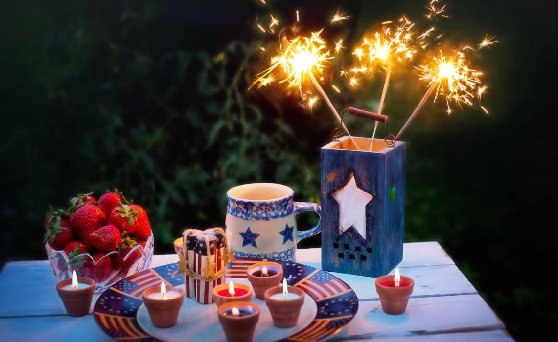 4th of July Decorations and Candles