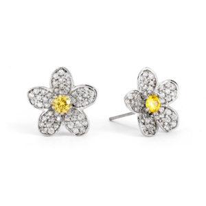 sterling silver daisy flower earrings for children