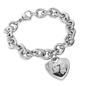 Mommy and daughter bracelet for mothers day with heart charm