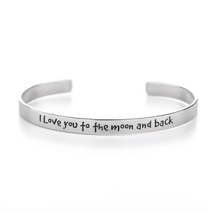 Mommy and daughter bracelet and i love you to the moon and back bracelet