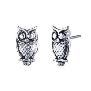 sterling silver owl stud earrings for kids