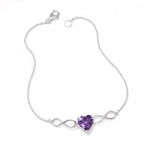 infinity custom heart birthstone sterling silver bracelet for grandma eves addiction customizable bracelets next day delivery