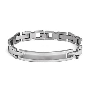 stainless steel ladder link Mens ID bracelet for fathers day gift ideas
