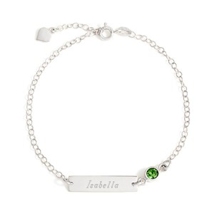 sterling silver spring ring bracelet customizable birthstone name bar bezel set bracelet for her eves addiction