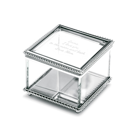 glass braided design jewelry box eves addiction mothers day gifts square jewelry box