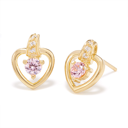 heart birthstone shaped gold stud earrings mothers day gift ideas eves addiction jewelry