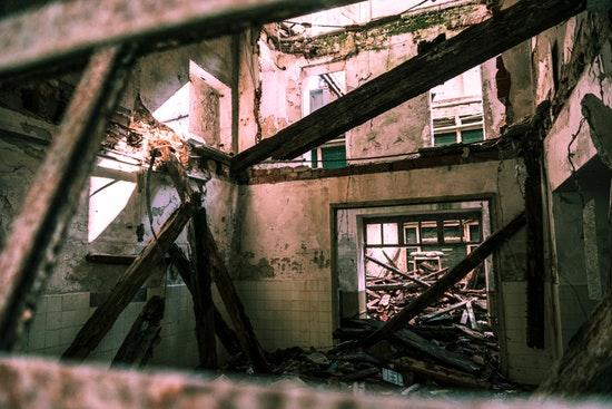 Immeuble en démolition