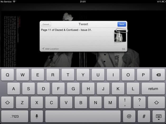 tweeting Dazed