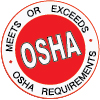 meets or exceeds osha