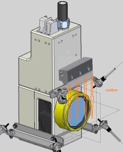 Super Air Knife laser application