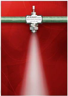 Narrow Angle Round Pattern Internal Mix Atomizing Spray Nozzle