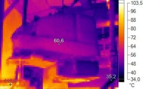 Thermal Image Temp = 60.6 deg C (141 deg. F)