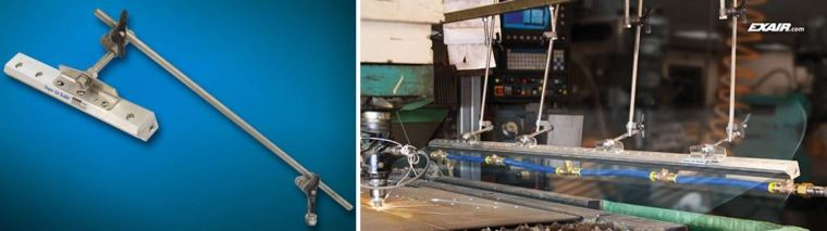 The 9060 Universal Air Knife Mounting Systems are perfect for simple, fast installation and positioning.